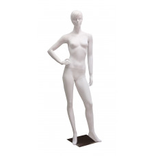 Манекен жіночий білий реалістичний без макіяжу, TC-5w/Dan