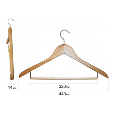 Плечики для одежды type 4A (бук) (перекладина на желез кроншт)