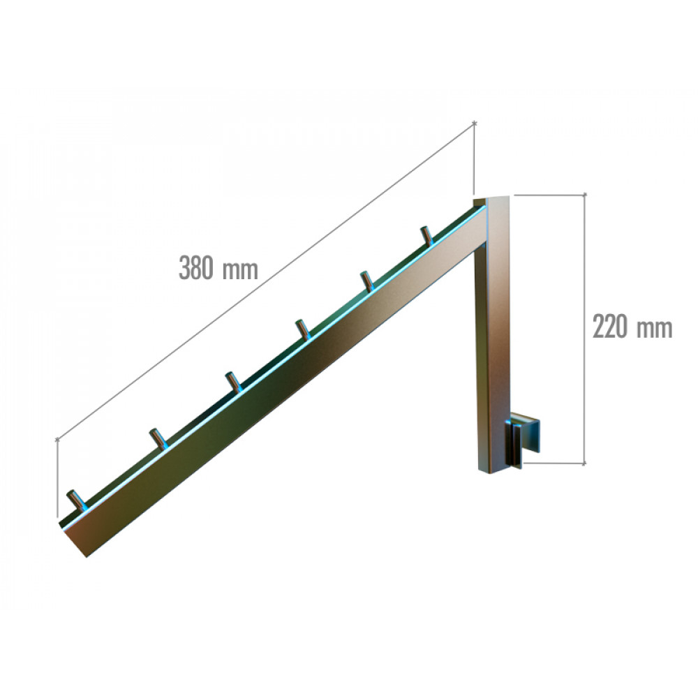 VR-7F2-10 Навесной элемент L- образный с огранич. 380мм.