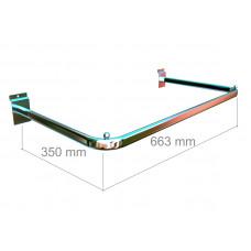 GD2006b Рама проста 663 * 350мм, труба 12 * 25мм