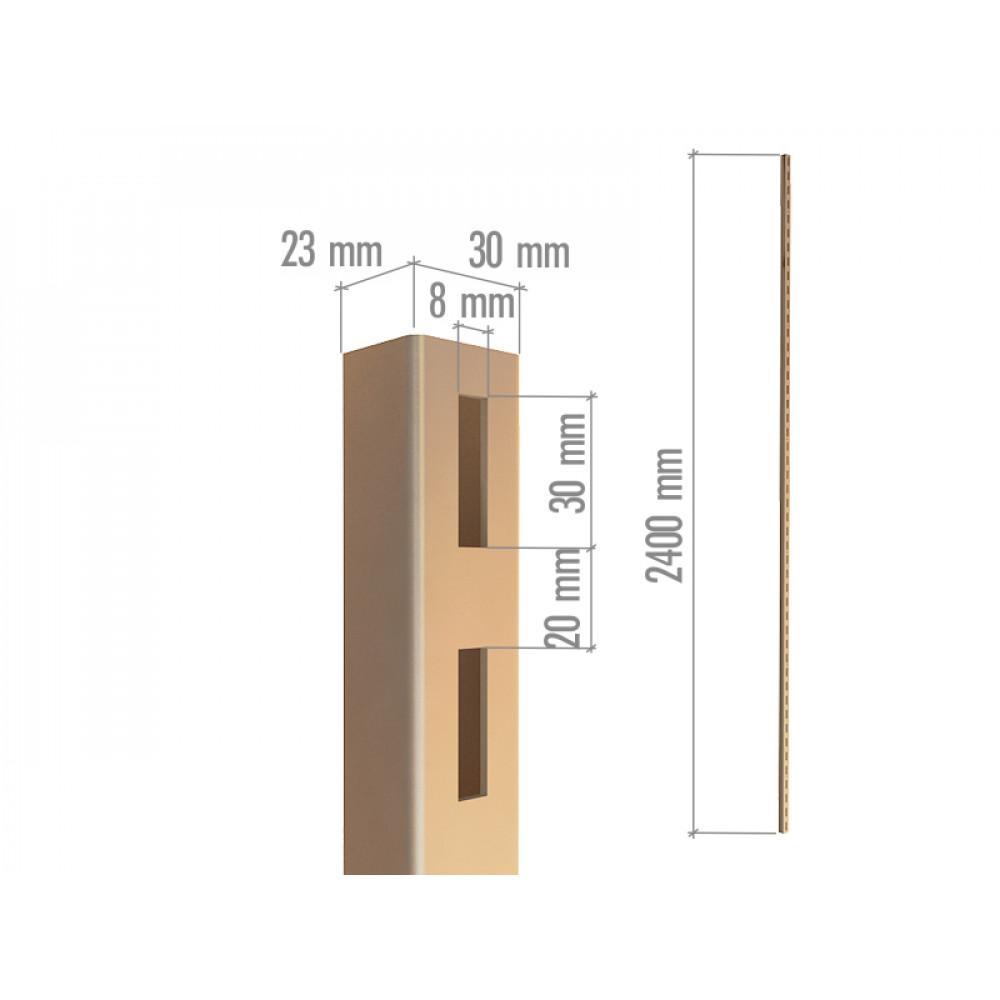 5001 НЕокрашенный БЕЗ отверстий  профиль перфорир. П-образный