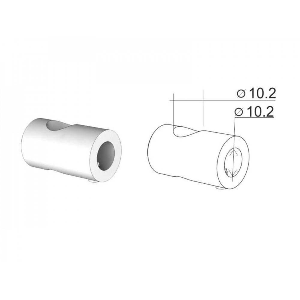 SF10-02 Держатель для трубы диам.10, односторонний