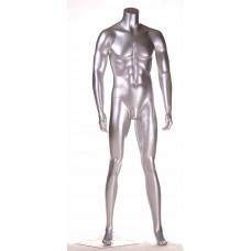 GE-7 Манекен чоловічий сріблястий без голови