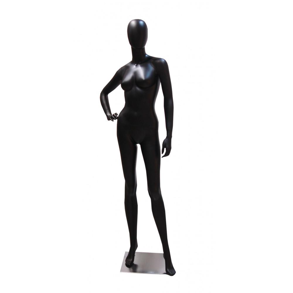 Манекен жіночий чорний безликий, FBLA-YE1