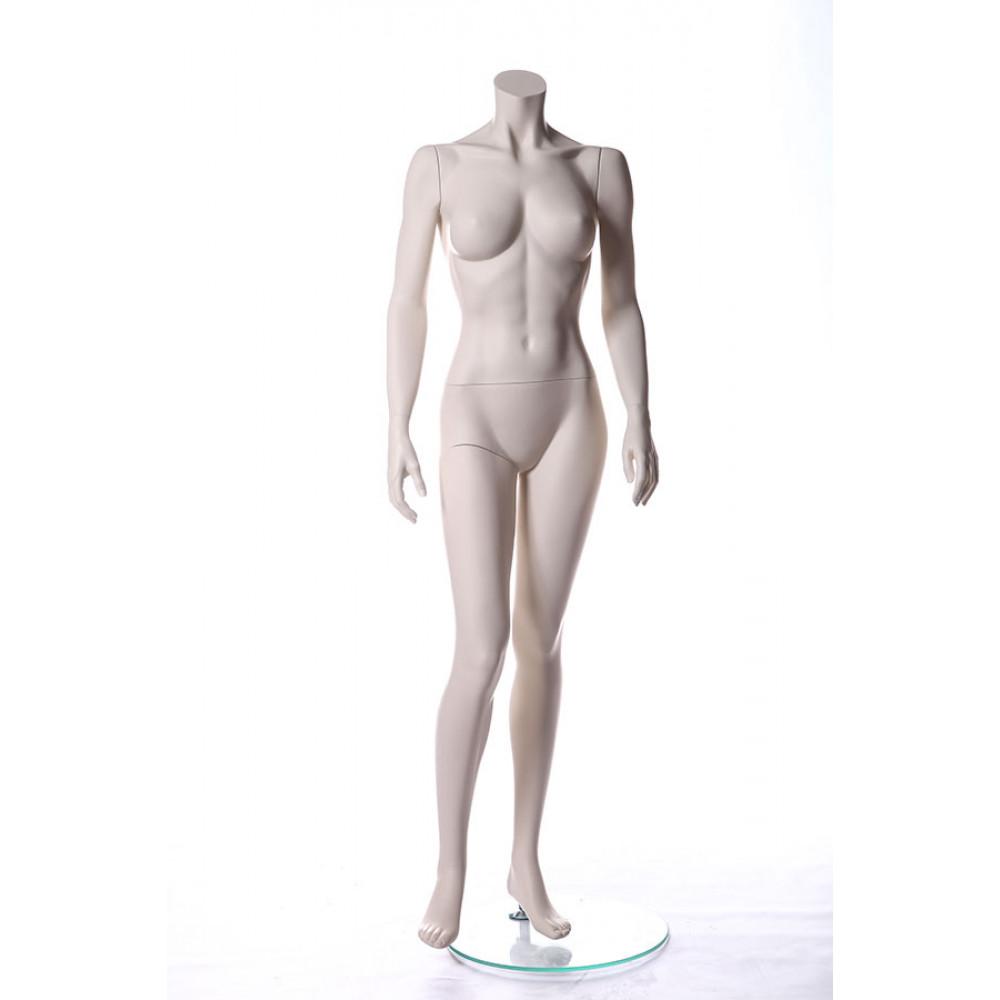 Манекен жіночий без голови MM-BG10 (RAL 9001)