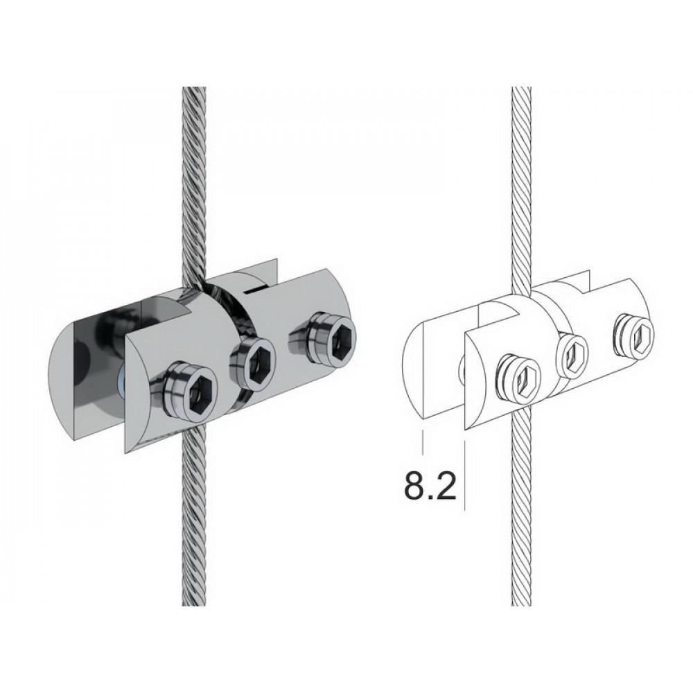 GVD Стеклодержатель двухсторонний вертикальный хром