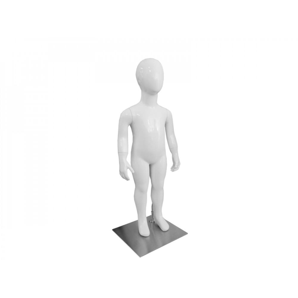 Манекен дитячий безликий, білий глянець (86 см), CHD-10