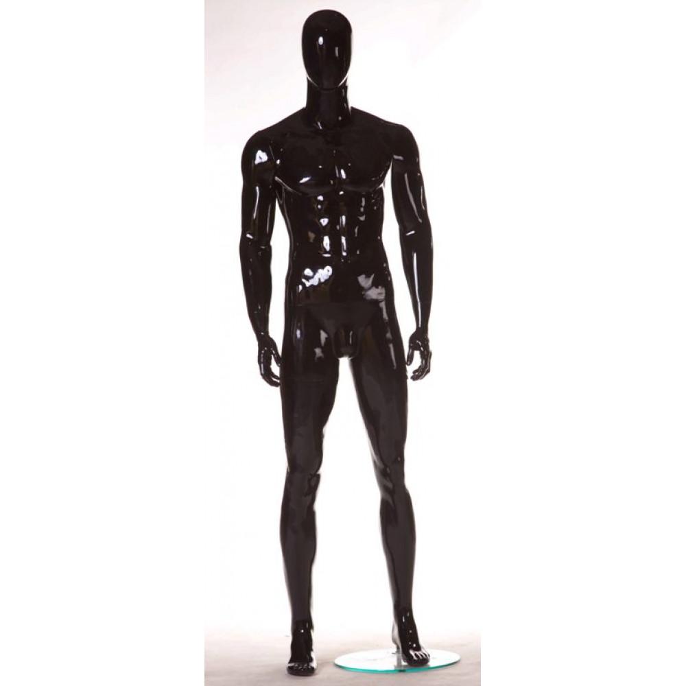 MMG-1 Манекен мужской безликий, черный глянец