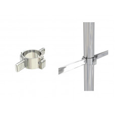 PL25 Двухсторонний держатель для овальной трубы dm50/dm30*15*1,5