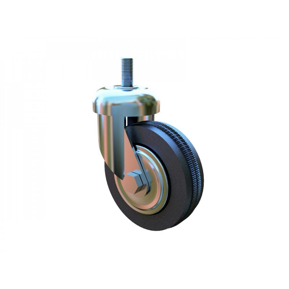 3016с Колесо одинарное резиновое 80мм без стопора