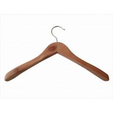 Плічка для одягу type Deluxe (кедр) з широкими плічками без поперечини