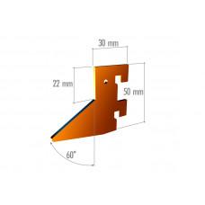 VR 6042 Элемент крепления в профиль треугольный, 2 зацепа, неокраш.