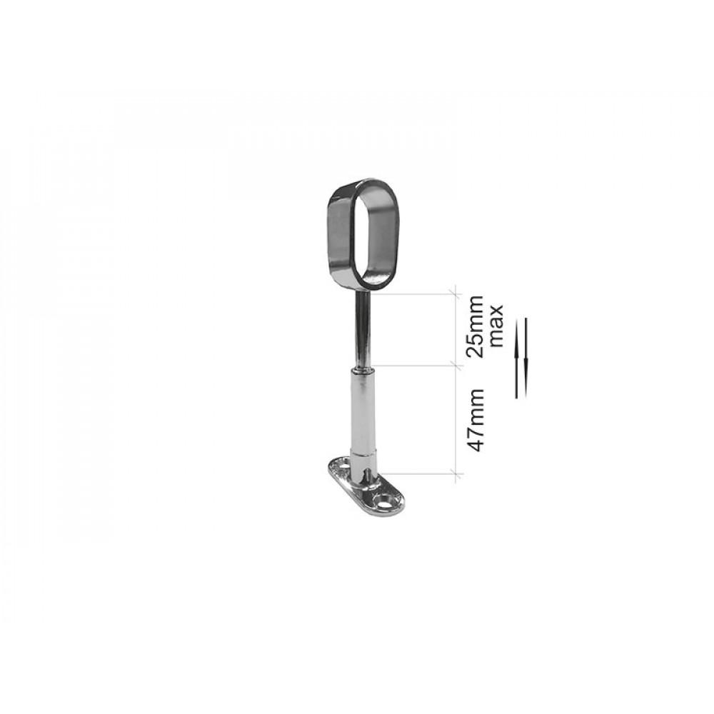 M7077 Держатель для овальной трубы сквозной