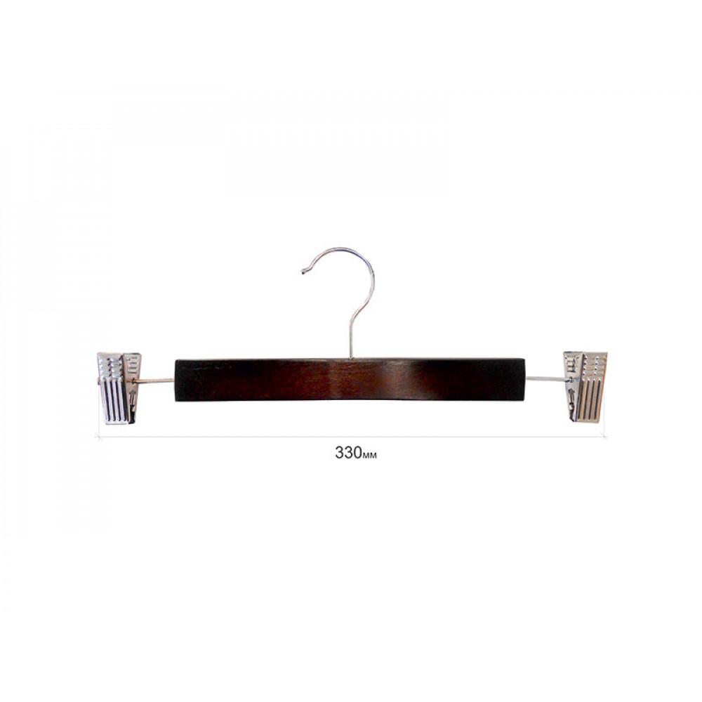 Плечики  для брюк  деревянные с прищепками type 5АВ Махонь 33 см