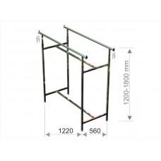 St 1 024 Стійка для одягу - гондола подвійна