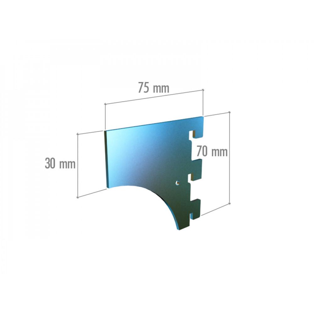 VRn 6043a Элемент крепления в профиль цельный, 3 зацепа, нерж.