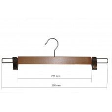 Вішак для штанів дерев'яний з прищіпками бук 400мм type 5АВ