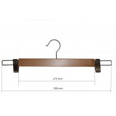 Плечики  для брюк  деревянные с прищепками type 5АВ Бук 40 см