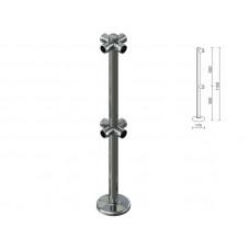 OG0553 Стійка для перегородок з подвійним крепл. для 4-х труб dm40