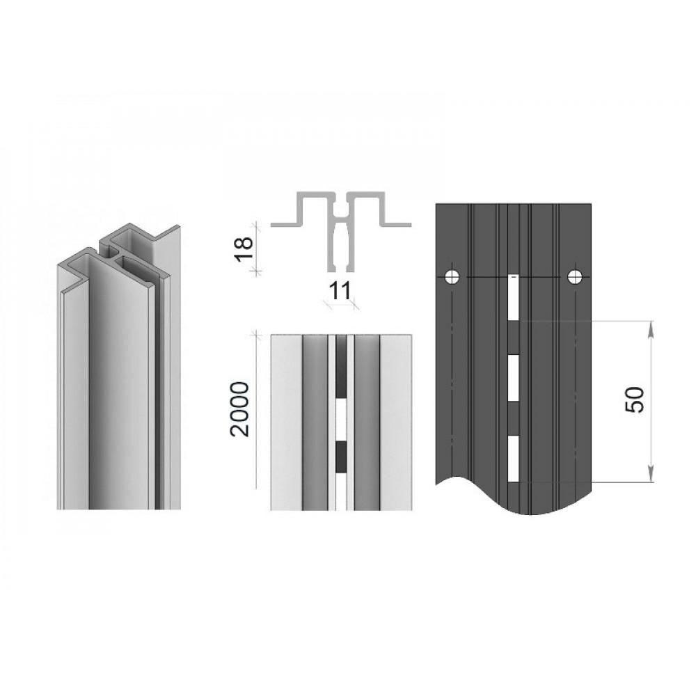 MS-01/2000 Профіль алюмінієвий 2000мм