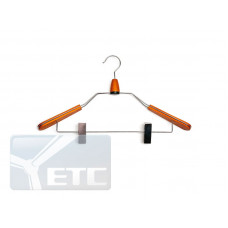 Плечики для одежды type 9M с контурными плечиками(махонь) с прищепками