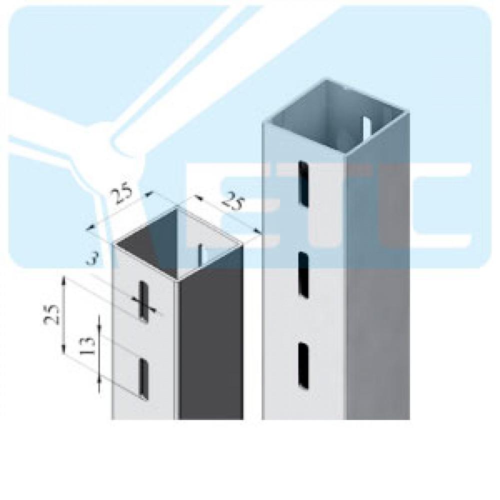 V2R-25 Профиль квадратный двусторонний 25*25*1450 нерж.