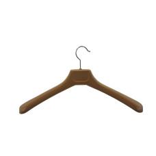 Вішаки для одягу пластикові флокіровані бежеві 450мм W-45F