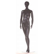 WK-4b / Dan Манекен жіночий чорний реалістичний (квадр. База, фікс. В ногу)