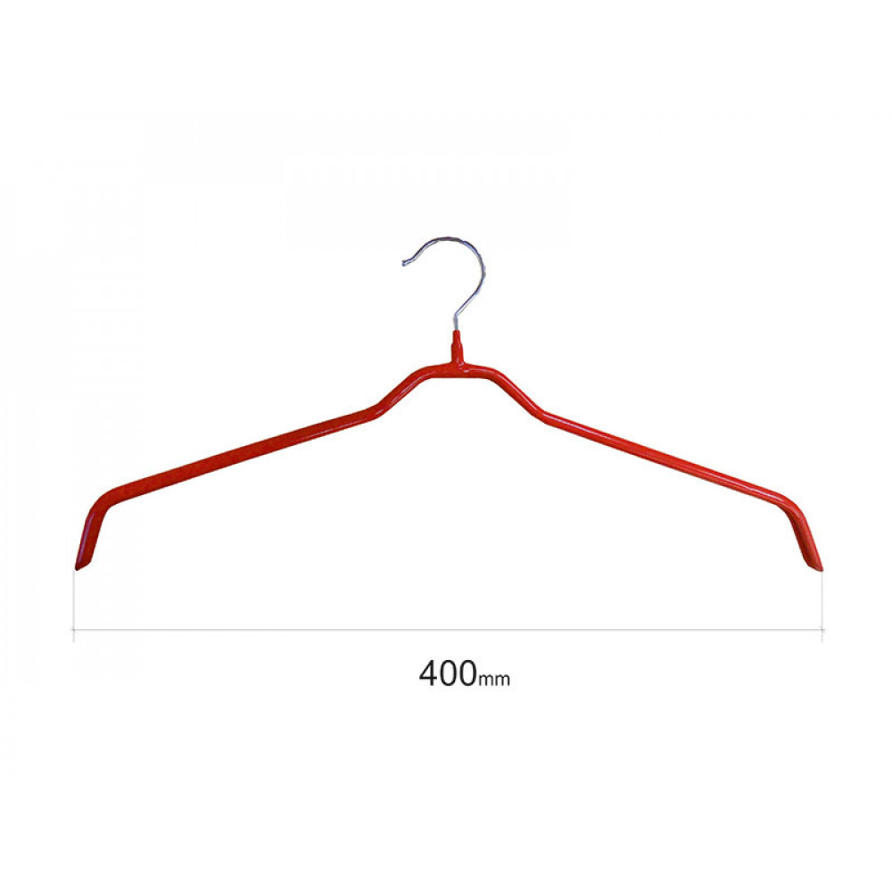 Плечики для одежды type 6 метал. 40см (красная)