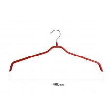 Плічка для одягу type 6 метал. 40см (червона)