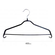 Плечики для одежды type 6Х метал. 40см (черная) с перекладиной
