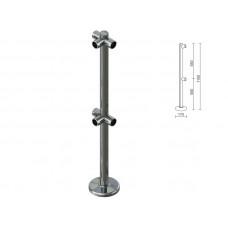 OG0552 Стійка для перегородок з подвійним крепл. для 3-х труб dm40