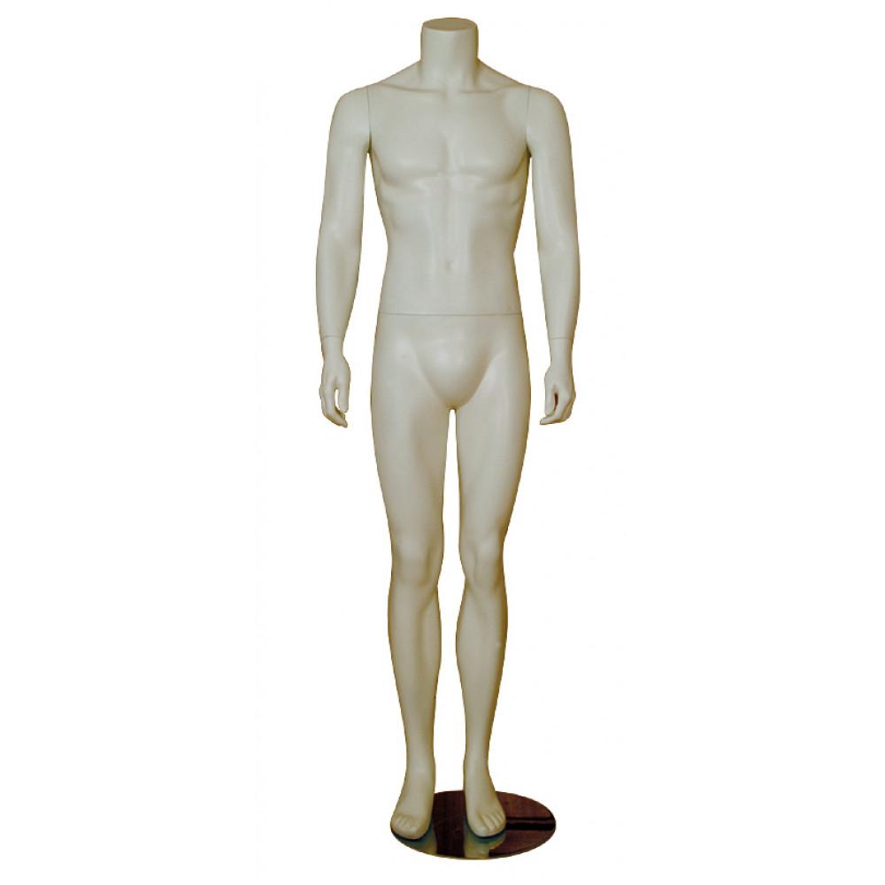 Манекен чоловічий білий без голови, AY-10