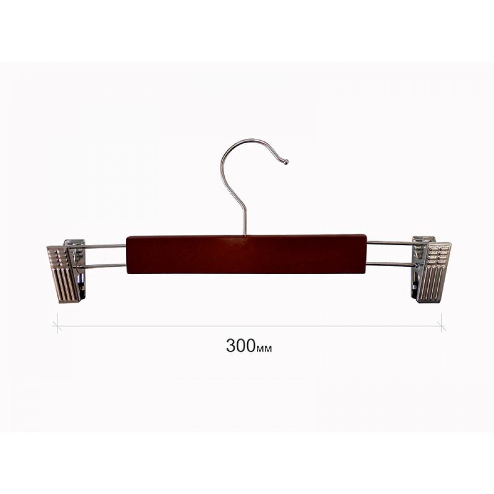 Плечики  для брюк  деревянные с прищепками type 5АВ Махонь 30 см