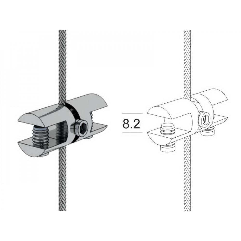 GHD Стеклодержатель двухсторонний горизонтальный хром