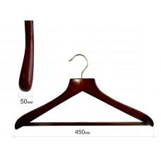 Плечики для одежды type Deluxe(махонь) с широкими плечиками С ПЕРЕКЛАДИНОЙ