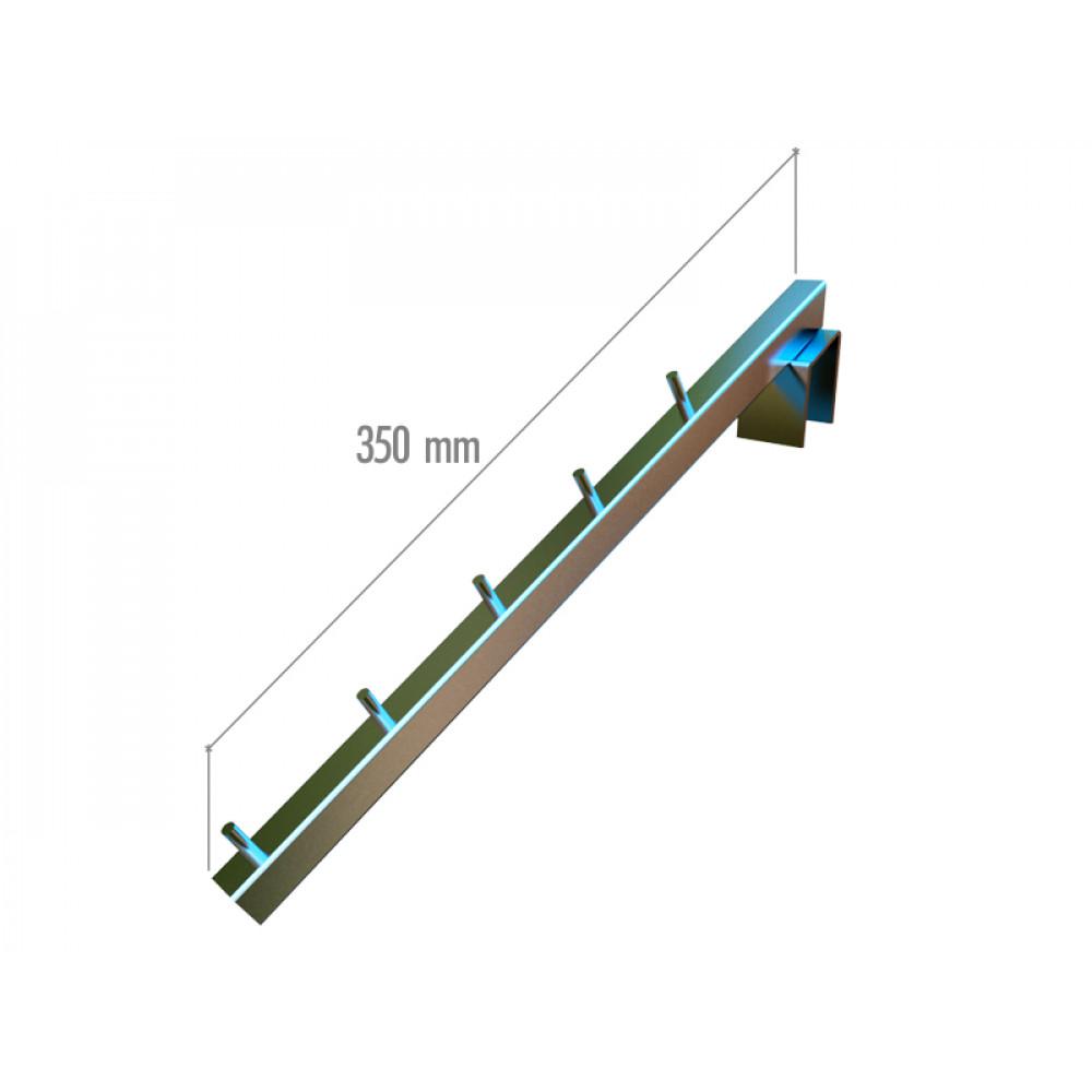 VR-7F2-06 Навесной элемент наклонный 350мм. хром.