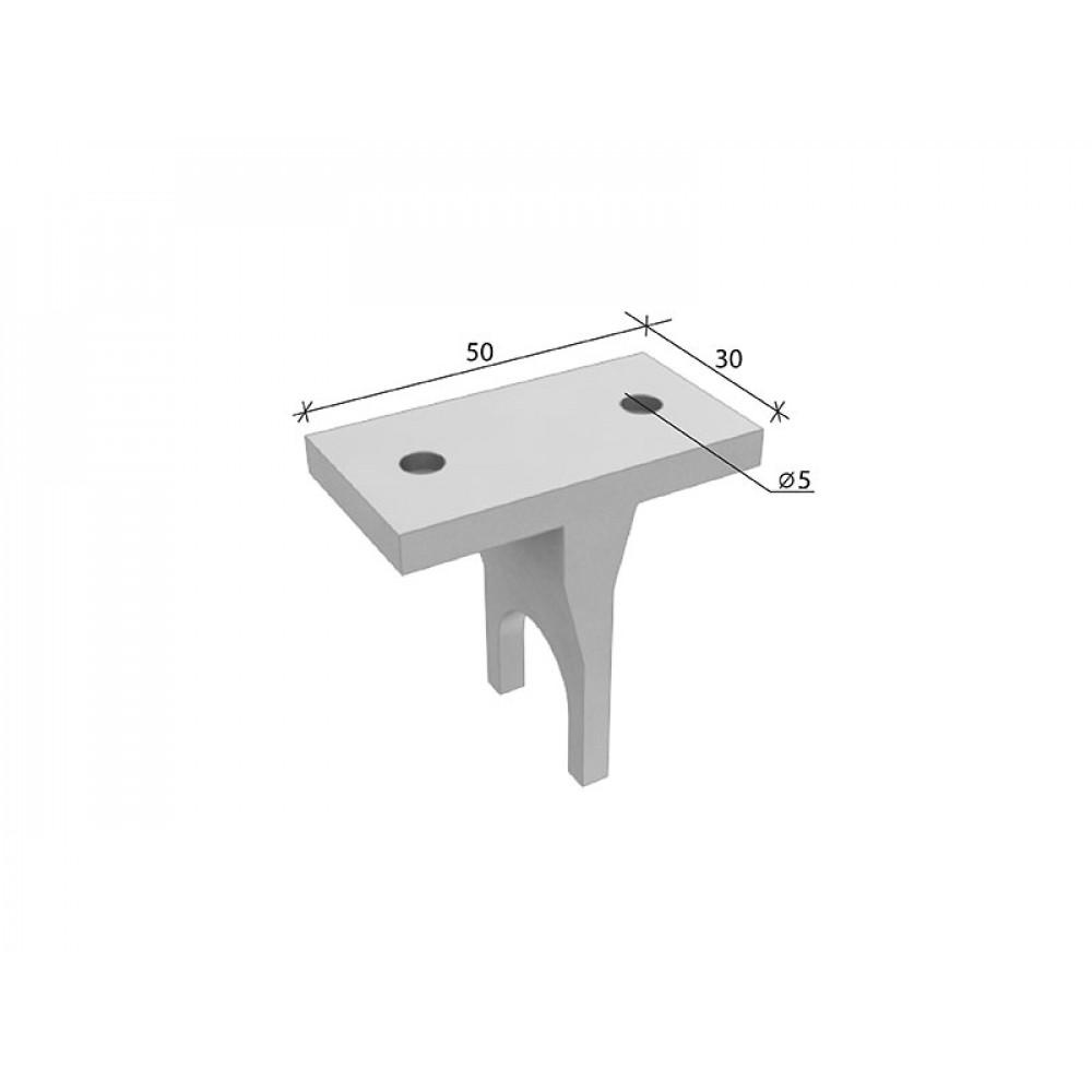 SL-H007 Полкодержатель алюминиевый (труба dm12 mm)