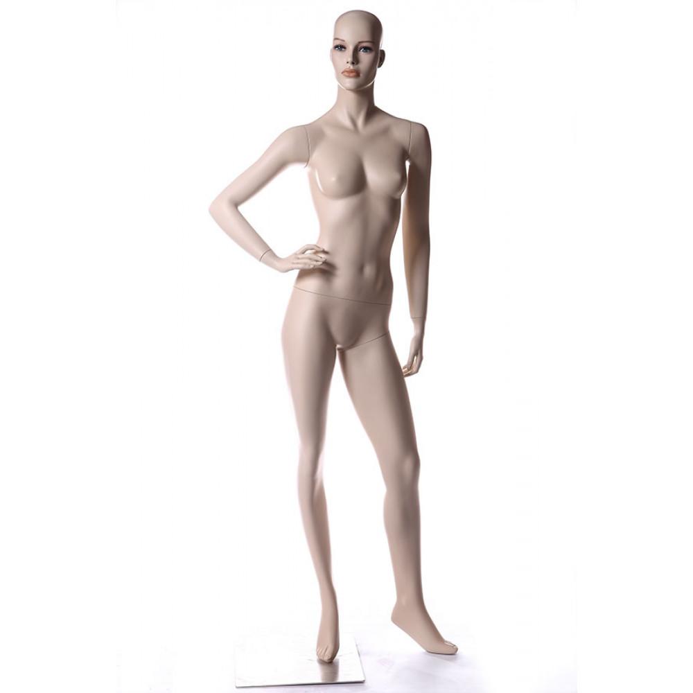 TC-5 Манекен женский телесный реалистичный (без парика, квадратная база)