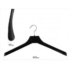 Вішаки для одягу пластикові чорні матові 450мм W-45