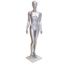 Манекен жіночий без голови FМ 11 (RAL 9006 срібло)