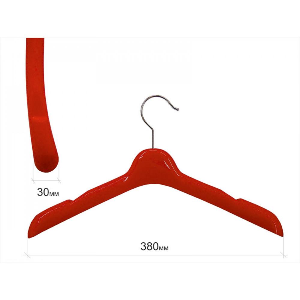 W-38 Плечики для одежды пластиковые 38см (КРАСНЫЕ)