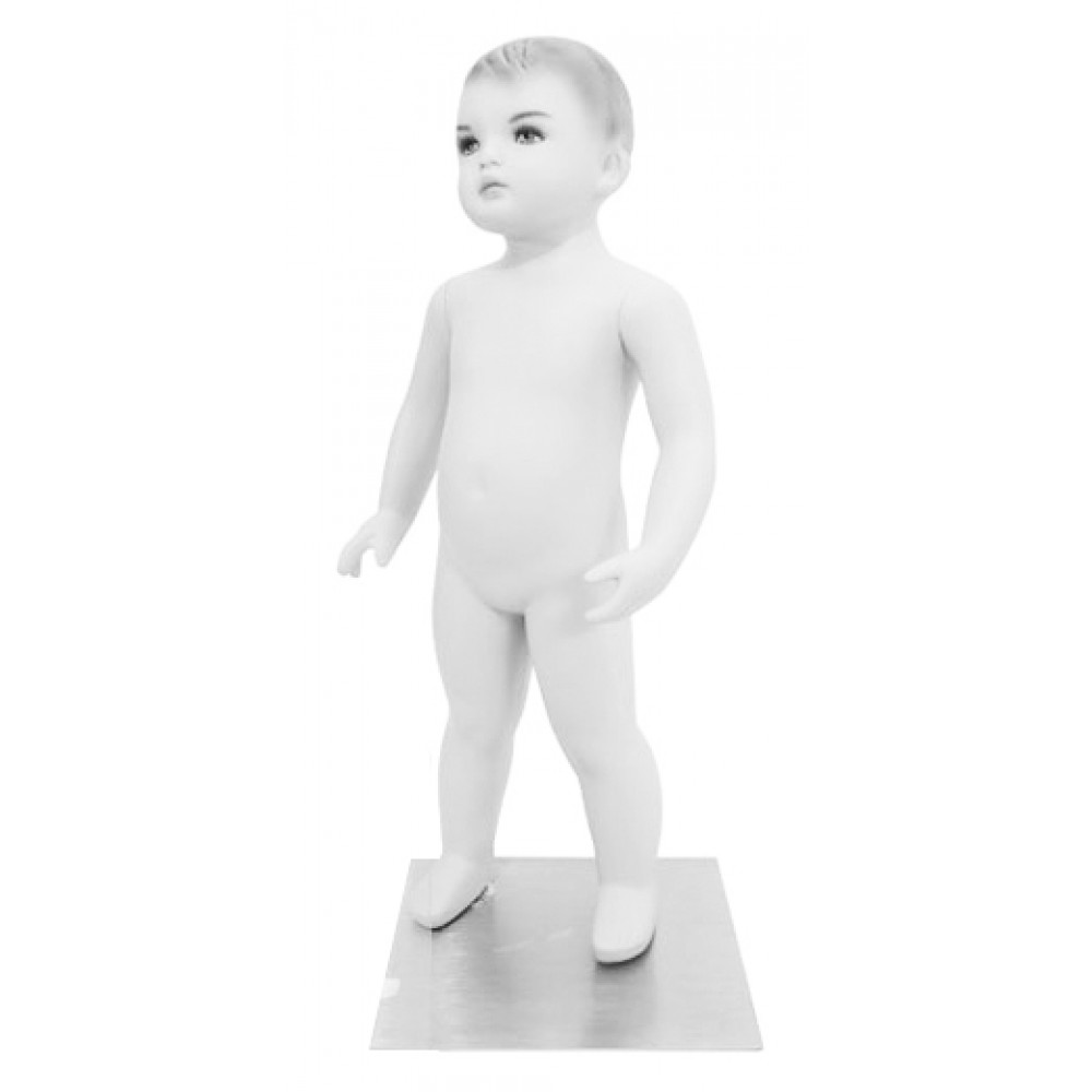 Манекен дитячий білий з макіяжем, Ch-002w