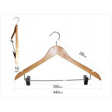 Плечики для одежды type 1ВZ (с прищепками, бук)
