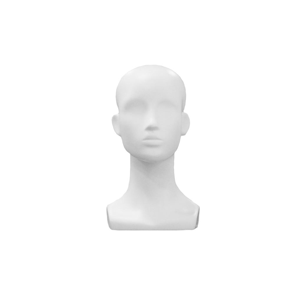 JLD-1 Голова женкого манекена АБСТРАКТНАЯ белая матовая