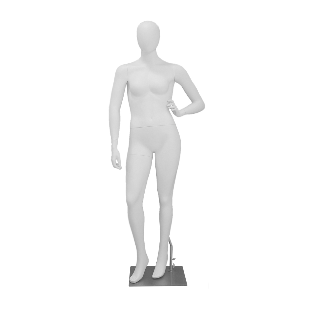 MONIKA-03 Манекен жіночий безликі білий матовий PLUS SIZE