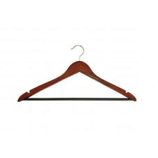 Плечики для одежды type 1ВМ (махонь) с черной перекладиной
