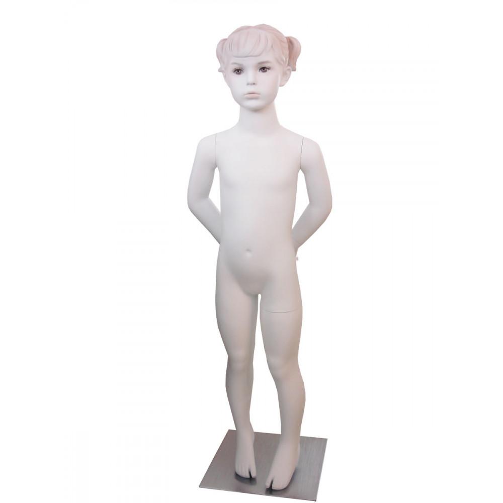 CH-7W Манекен детский БЕЛЫЙ с макияжем (девочка110см)