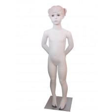 Манекен дитячий білий з макіяжем (дівчинка 110 см), CH-7W