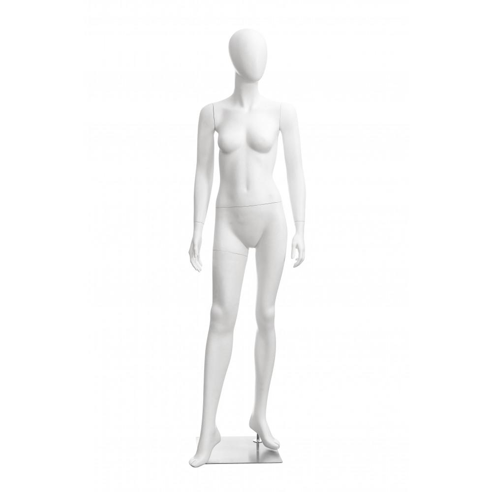 Манекен жіночий білий безликий, DOLL-03